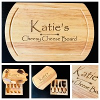 Cheese Board Oval - Knife Set