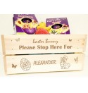 Easter Bunny Stop Here - Wooden Crate