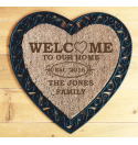 Heart - 'Welcome to our home' design - door mat