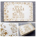 Birth Keepsake Box - Star Boarder Design