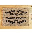 'Welcome to the Family Home' design door mat
