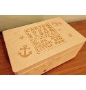 Birth Keepsake Box - Boys Sailor Theme