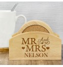'Mr & Mrs' - Coaster Set