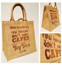 Personalised Jute Hessian Bag - Teacher Gift Design 1 - Capes