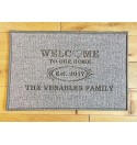 'Welcome to our Home' design door mat - Machine Washable